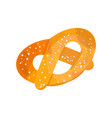 pretzel on a white background vector image vector image