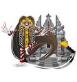 rangda leak traditional bali dance vector image