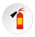 red fire extinguisher icon circle vector image vector image