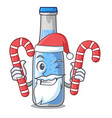 santa with candy bottle soda water isolated on vector image vector image