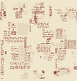 seamless pattern with illegible scribbles and text vector image vector image