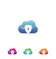 security cloud vector image vector image
