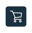 shopping cart icon Rounded squares button vector image vector image