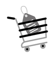 shopping cart online price tag gray color vector image vector image
