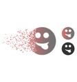 sparkle pixel halftone tongue smiley icon vector image vector image