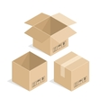 Square cardboard box vector image vector image