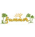 summer beach logo symbol vector image