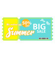summer sale voucher vector image