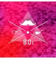 Triangle retro hipster background vector image