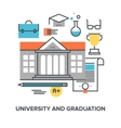 university and graduation vector image vector image