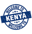 welcome to kenya blue stamp vector image vector image