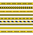 yellow and black barricade construction tape vector image