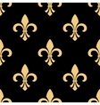 Yellow and black fleur-de-lis pattern vector image vector image