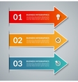infographic arrows with white border vector image