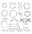 Set of labels ribbons and elements for design vector image
