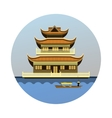 Buddhist temple emblem vector image
