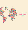 abstract world map made colorful geometry shape vector image