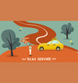 banner taxi service call a taxi graphics vector image