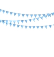 Bavarian bunting festoon from Germany with diamond vector image vector image