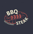 bbarbecue restaurant logo barbecue party vector image