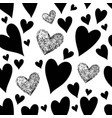 black hearts seamless patte vector image vector image