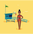 black woman having vacation vector image vector image
