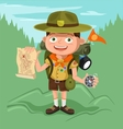 Boyscout with map vector image vector image