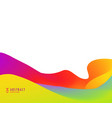 bright vibrant color abstract background design vector image