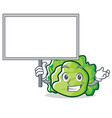 bring board lettuce character cartoon style vector image vector image