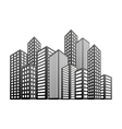 Buildings and city scene icon image vector image