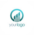business finance progress logo vector image vector image