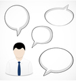 Businessman and speech bubbles vector image vector image