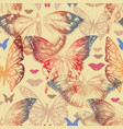 butterfly seamless pattern in retro style vector image vector image