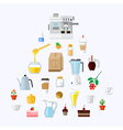 cafe equipment icons collection 2 vector image vector image