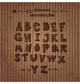 Carved alphabet with the decor inside the letters vector image