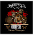 classic biker for badge or label vector image vector image