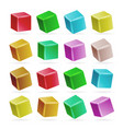 colorful cube 3d set perspective empty vector image