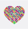 colorful shape a heart