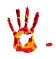 communism blood flag vector image