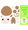 cut and glue baby monkey education developing