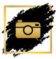 digital photo camera sign golden icon at vector image vector image