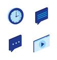 digital technology isometrics icons vector image vector image