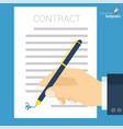 document signing icon vector image vector image