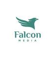 eagle logo design abstract logo design vector image vector image