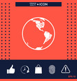 earth icon logo vector image vector image