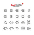 easy icons 50a computer virus vector image