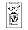 elegant mens day icon simple style vector image vector image