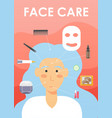 face care procedures poster banner template vector image