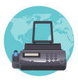 fax machine telecopying or telefax telefacsimile vector image vector image