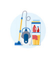 flat design icon vacuum cleaner vector image